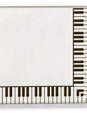 Tovaglioli di carta con decorazione al bordo Pianoforte